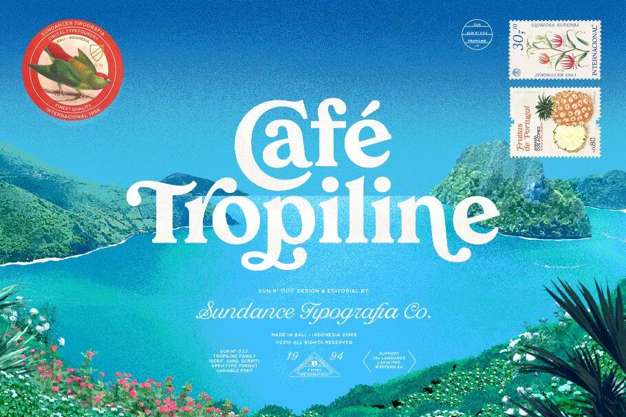 Tropiline Font Family of 29 Beautiful Fonts – only $9!