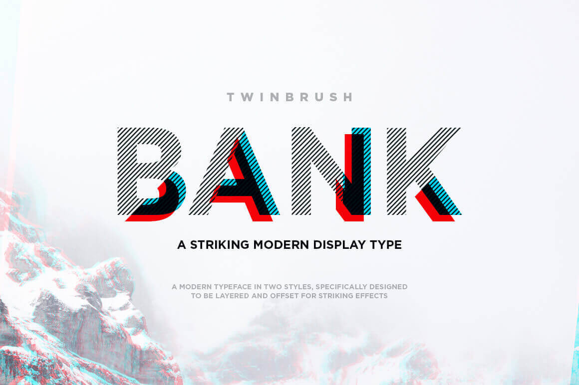Bank Modern Display Font + Geometric Graphics – only $5!