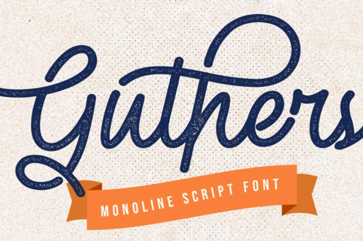 Free Download: Guthers Font