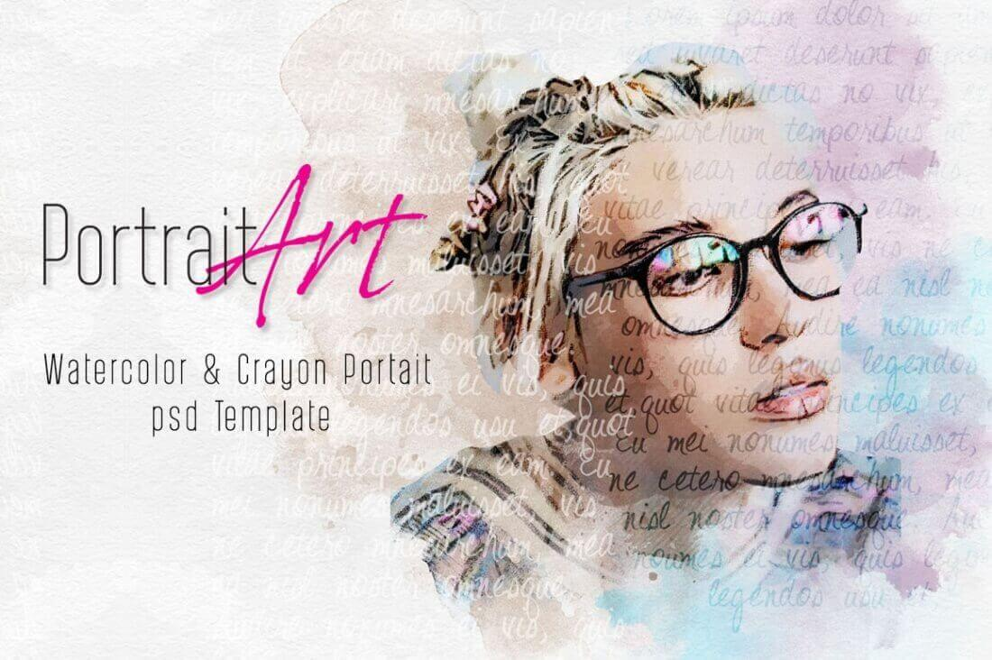Create Watercolor and Crayon Portrait Art – only $4!