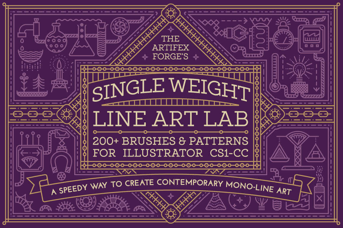 Single Weight Line Art Lab – only $9!