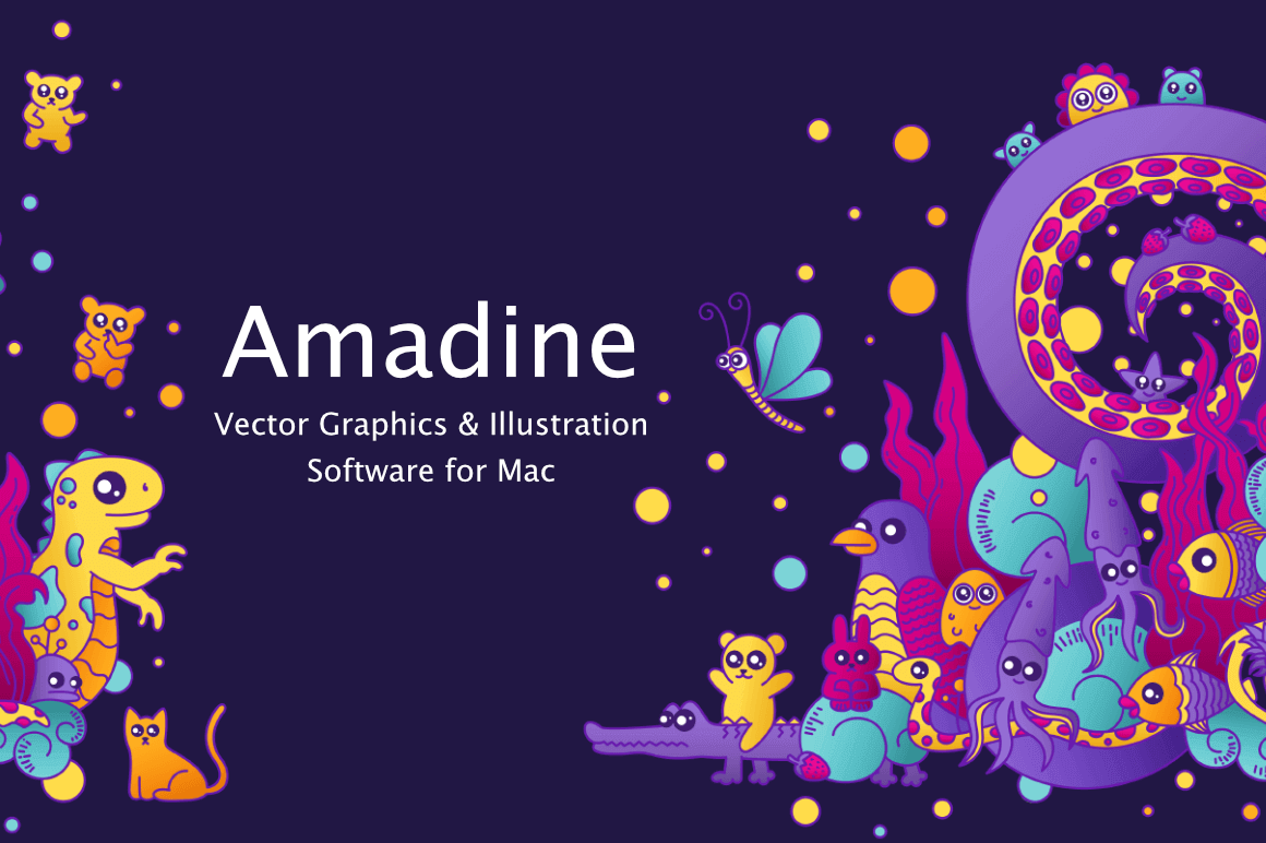 Amadine, the Ultimate Vector Graphics Software for Mac – only $9.97!