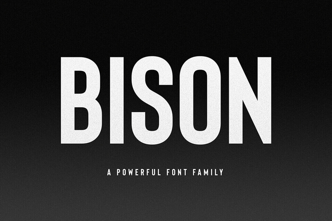 Bison, A Powerful Sans Serif – only $9!