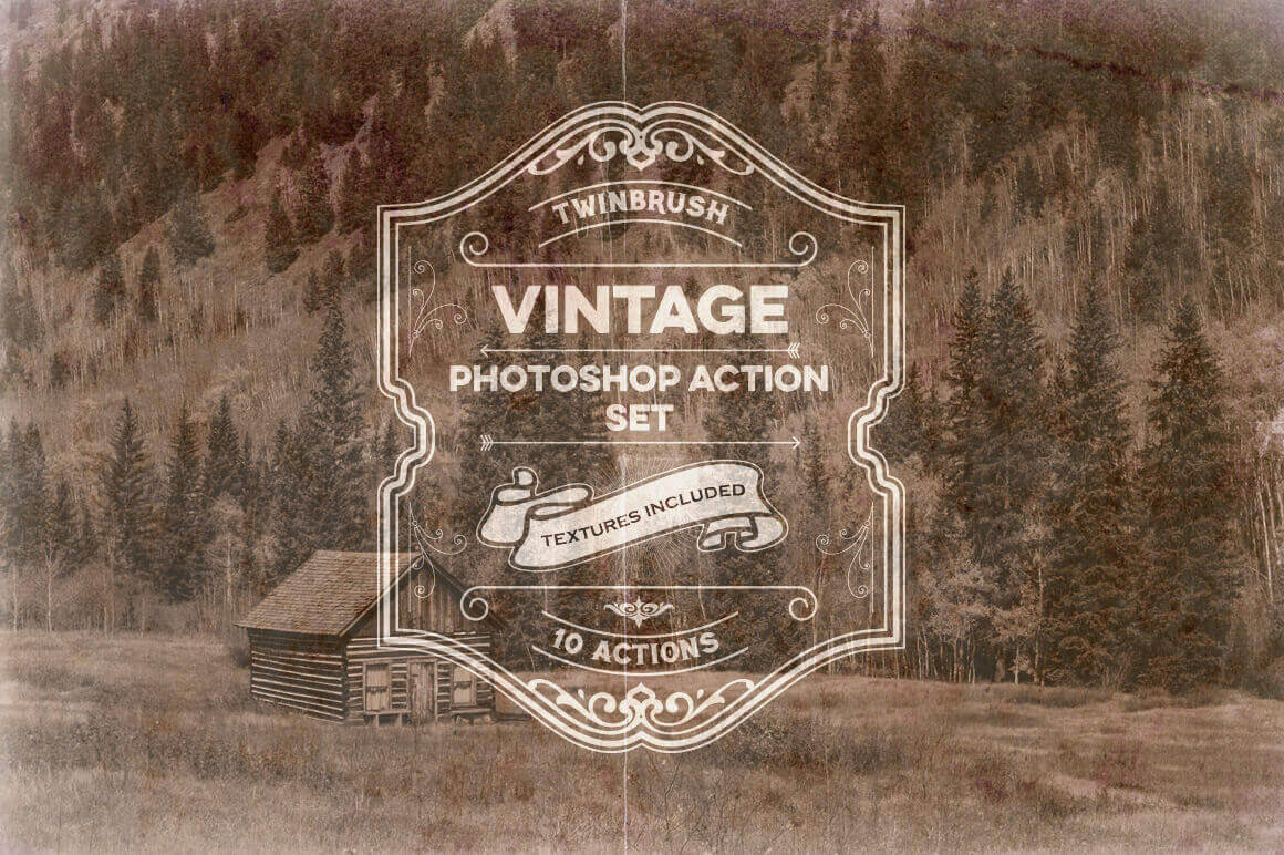 10 Vintage Effect Photoshop Actions – only $5!