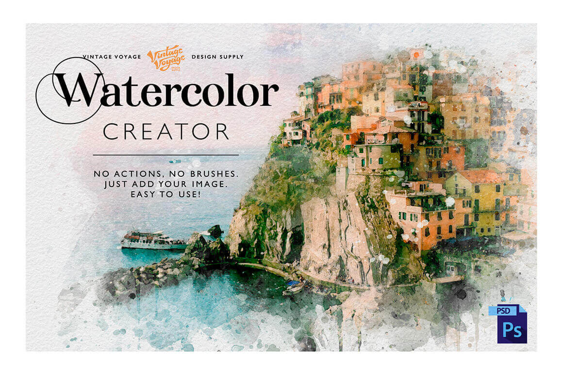 Get the Perfect Watercolor Illustrations with Watercolor Creator – only $6!