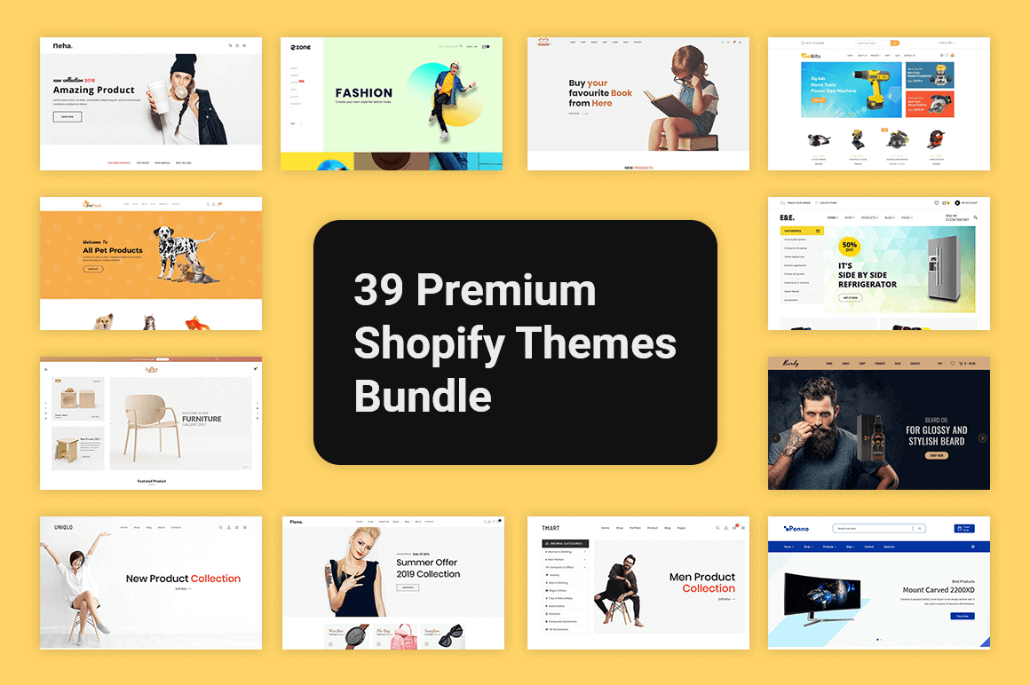 39 Premium Shopify Themes – only $29!