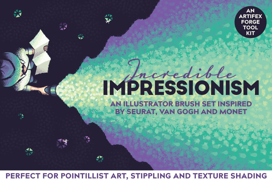 Create Pointillist Art with the Incredible Impressionism Brushes Set – only $9!