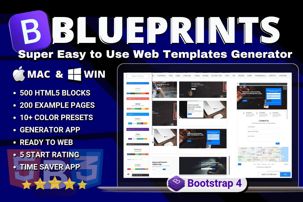 Simple Web Templates Generator for Mac & Windows – only $29!