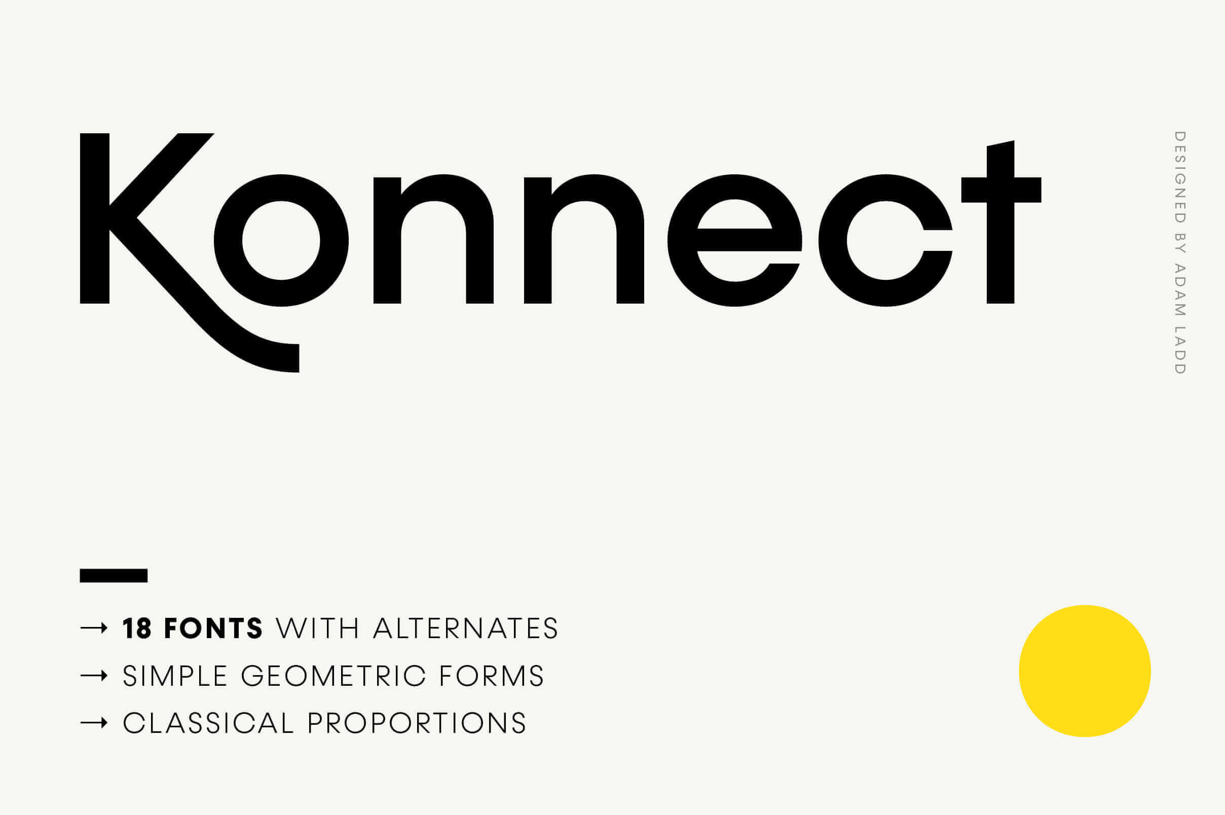18 Modern and Playful Fonts with Konnect – only $12!