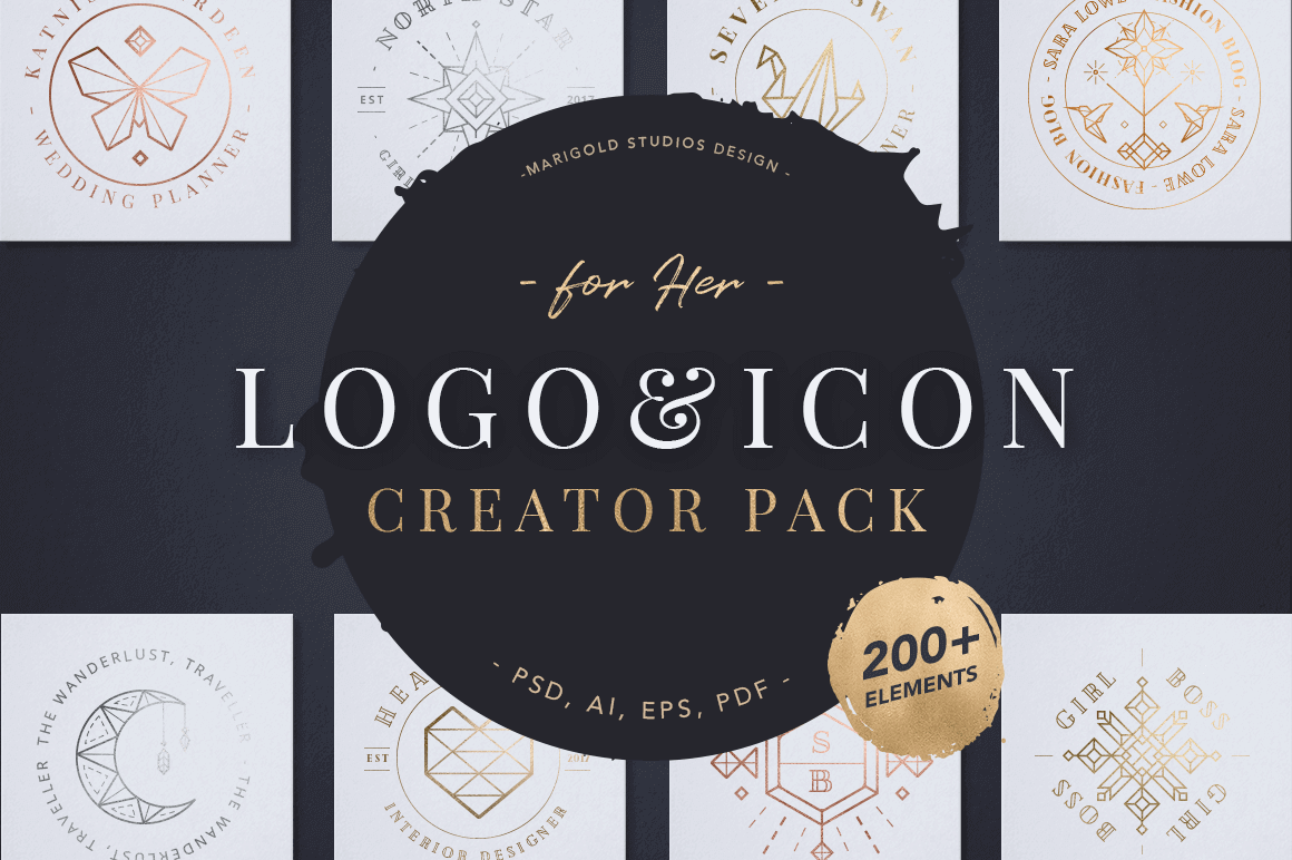 200 Logo, Icon and Designer Elements – only $12!