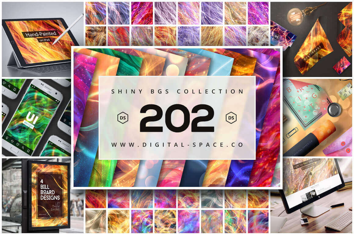 200+ Hi-Res Shiny Backgrounds – only $14!