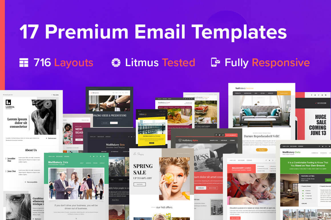 17 Professional Email Templates from MailBakery – only $27!