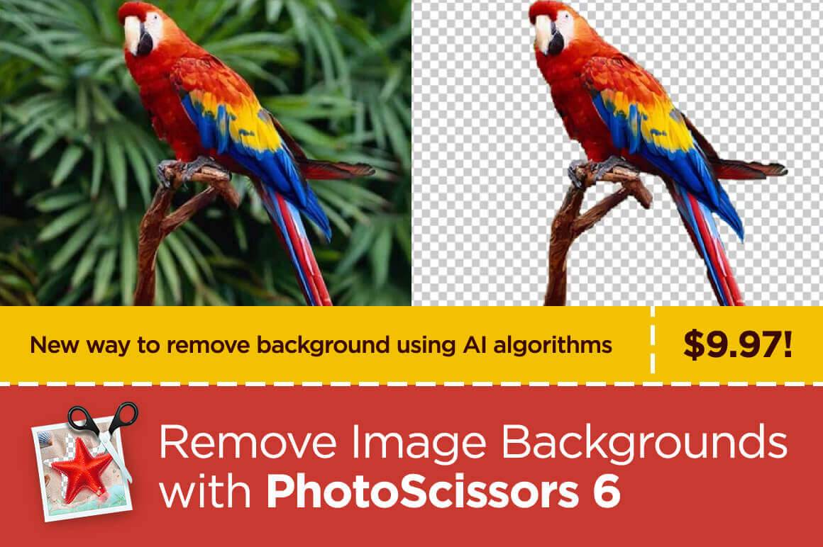 Remove Image Backgrounds with PhotoScissors 6 – only $9.97!