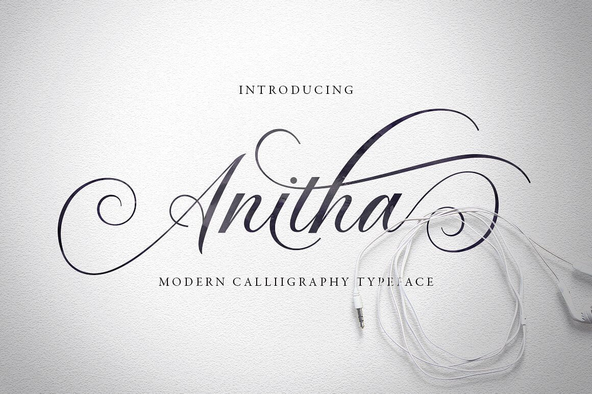 Modern Calligraphy Typeface, Anitha – only $5!