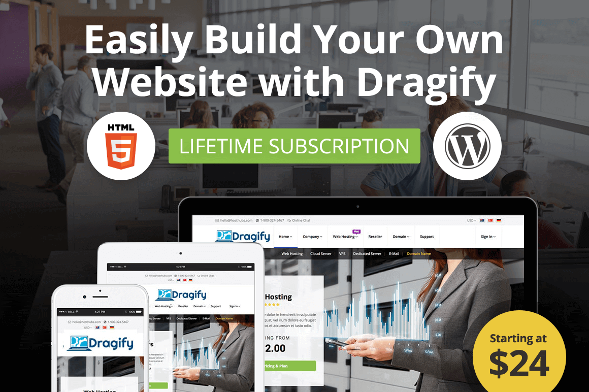 Easily Build Your Own Website with Dragify and Dragify for WP – only $24!