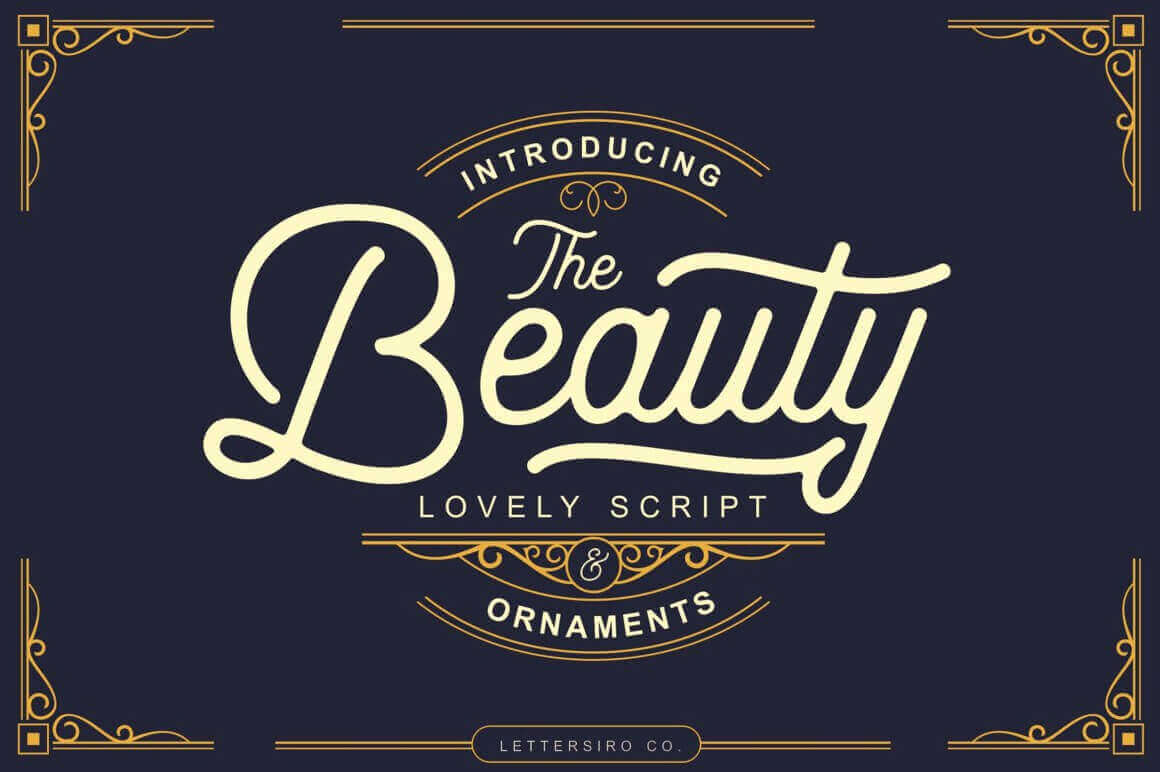 The Beauty Vintage Script with Bonus Ornaments – only $7!