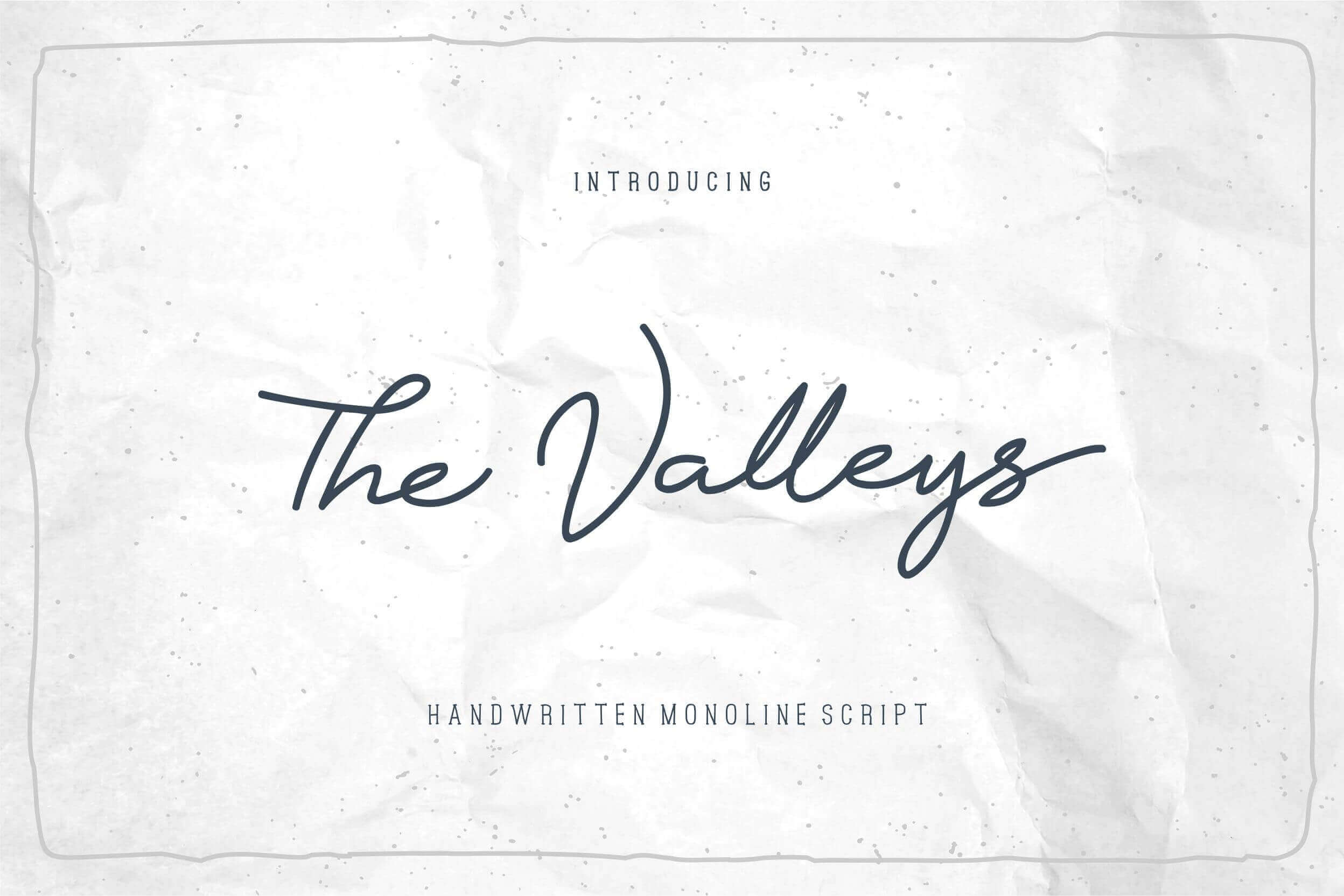 The Valleys Handmade Cursive Script Font – only $7!