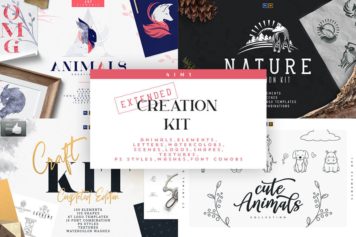 4-in-1 Extended Creation Kit with 700+ Elements – only $9!