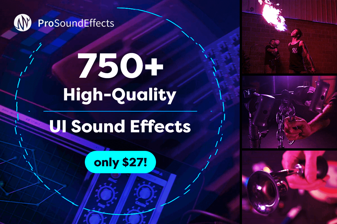 750+ High-Quality UI Sound Effects – only $27!