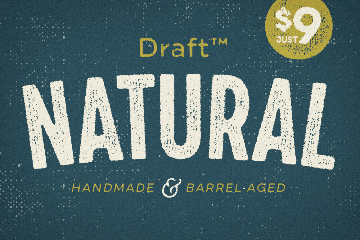 Draft Natural Complete 56-Font Family – only $9!