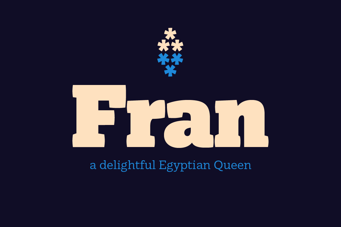 Fran, a Strong and Elegant Font Family – only $9!