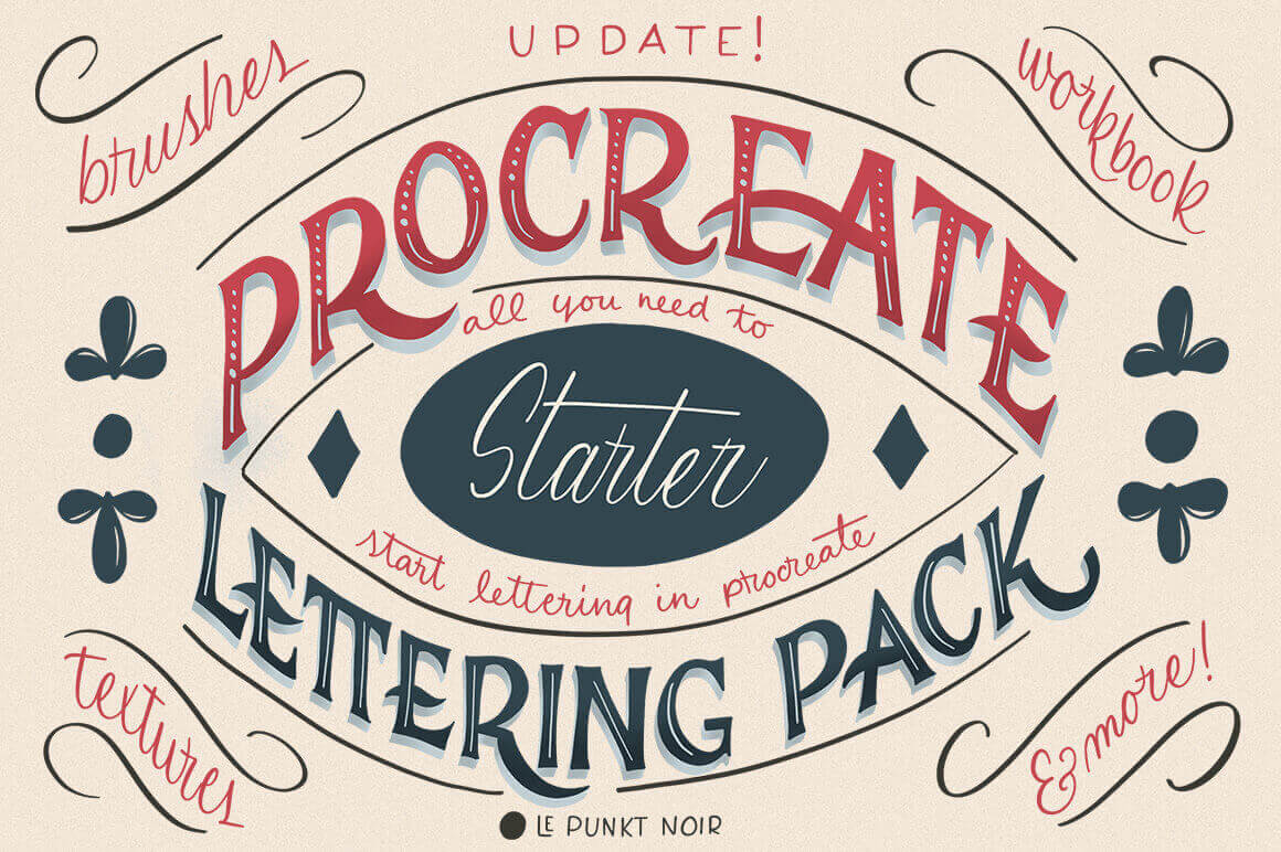 Procreate Lettering Starter Pack –  only $9!